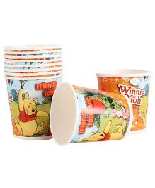 Disney Winnie The Pooh Paper Cups Pack Of 10 Multi Color - Each 200 ml