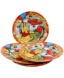 Disney Winnie The Pooh Paper Plate Multi Color - Diameter 6.7 Inches