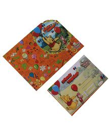 Disney Winnie The Pooh Die-Cut Invitation & Envelopes Pack Of 10 - Multi Color