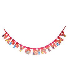 Disney Princess Happy Birthday Die-Cut Banner - Red