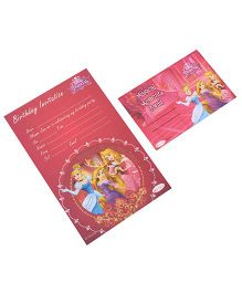 Disney Princess Invitation & Envelopes Pack Of 10 - Pink