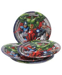 Marvel Avengers Paper Plates Multi Color - Diameter 6.7 Inches