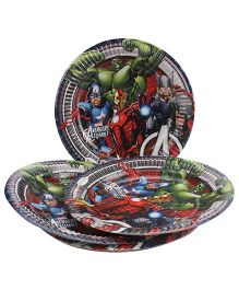 Marvel Avengers Paper Plates Multi Color - Diameter 8.6 Inches
