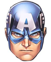 Marvel Avengers Face Mask pack Of 10 - Blue & Cream