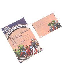 Marvel Avengers Invitation & Envelopes Pack Of 10 - Multi Color