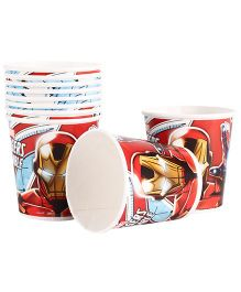 Marvel Iron Man Paper Cups Pack Of 10 Multi Color - Each 200 ml