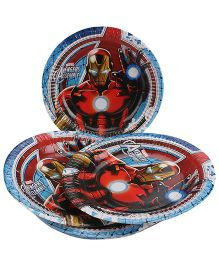 Marvel Iron Man Paper Plates Multi Color - Diameter 8.6 Inches