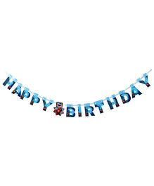 Marvel Iron Man Happy Birthday Die Cut Banner - Blue