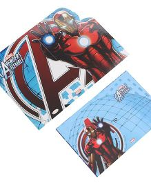 Iron Man Die-Cut Invitation & Envelopes Pack Of 10 - Blue & Red