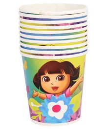 Dora Paper Cups Pack Of 10 Multi Color - Each 200 ml