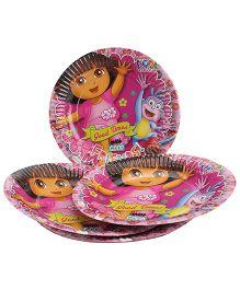 Dora Paper Plates Pink - Diameter 6.7 Inches