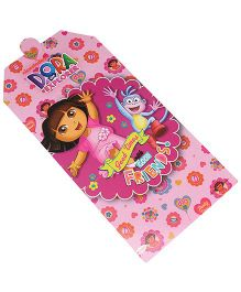 Dora Invitation Card Pack Of 10 - Pink