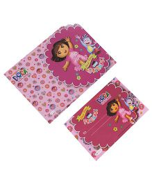 Dora Die-Cut Invitation & Envelopes Pack Of 10 - Pink