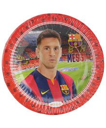 FC Barcelona Paper Plate Diameter 7 Inches Red - 10 Pieces