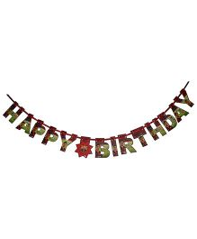 FC Barcelona Happy Birthday Die-Cut Banner - Multi Color