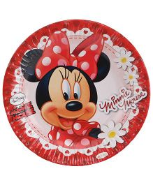 Disney Minnie Mouse Paper Plate Diameter 7 inches Red - 10 Pieces