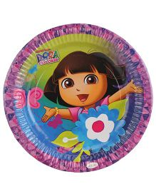 Dora Paper Plates Diameter 9 Inches Multicolor - Pack Of 10