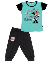 Disney Top And Pant Minnie Mouse Print - Sea Green