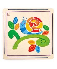 Hape Happy Snail Paint And Frame - 16 Pieces