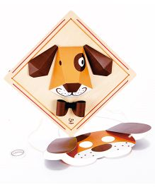 Hape Puppy Face Craft Kit - 12 Pieces