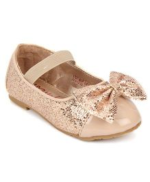Yokids Slip-On Belly Shoes Bow Applique - Golden