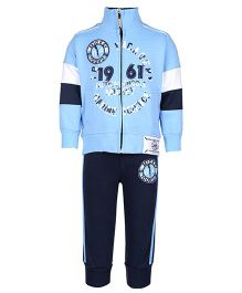 Mickey Full Sleeves Jacket And Track Pants - Blue
