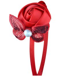 Little Cuddle Sparkly Butterfly Girls Hairband - Red