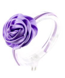 Little Cuddle Satin Flower Girls Hairband - Purple