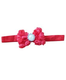 Little Cuddle Pearl Rosette Headband - Red
