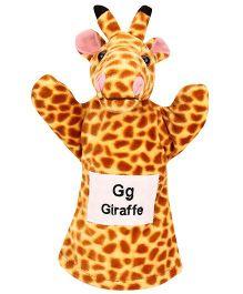Natkhat Giraffe Puppet - Yellow & Brown
