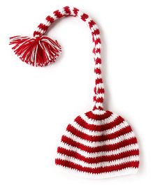 The Original Knit Christmas Cap  - Red & White