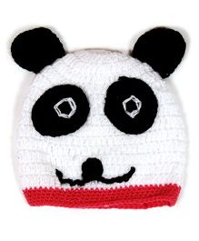 The Original Knit Teddy Cap - White and Pink