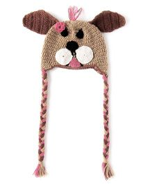 The Original Knit Crochet Puppy Hat - Brown