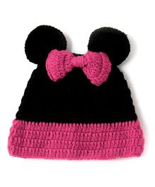 The Original Knit Minnie Mouse Cap - Black