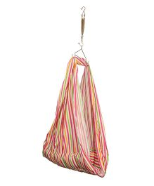 Luk Luck Port Baby Cradle Striped Nest - Pink