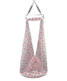 Luk Luck Port Baby Cradle Nest Fruit Print - Pink