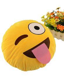 Stybuzz Wink Eye Emoji Cushion - Yellow