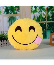 Stybuzz Yummy Emoji Cushion - Yellow