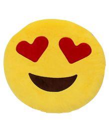 Stybuzz Love Struck Emoji Cushion - Yellow