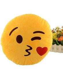 Stybuzz Kiss Emoji Cushion - Yellow