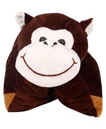 Natkhat Folding Cushion Monkey - Dark Brown
