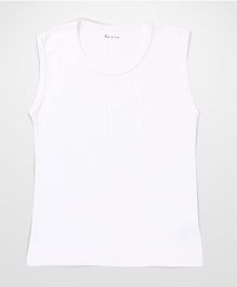 Kanvin Sleeveless Self Stripe Design Vest - Off White