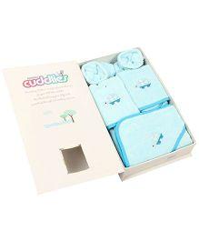 Trident Cuddlies Gift Set Tortoise Design Pack Of 7 - Sky Blue