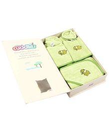 Trident Cuddlies Gift Set Elephant Design Pack Of 7 - Green