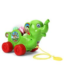 Kids Zone Pull Along Baby Elephant - Green