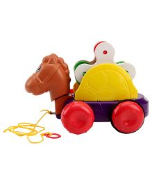 Kids Zone Pull Along Funny Horse