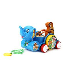 Kids Zone Pull Along Sargam Animal - Blue