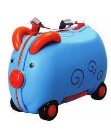 Polly's Pet Piggy Ride On Suitcase Blue - 76371