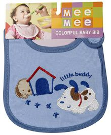 Mee Mee Baby Bib Little Buddy Design - Blue