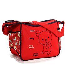 Mee Mee Mama's Bag Teddy Bear Design - Red